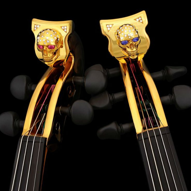 Gold Violins To Go Up Ben Lizzi Scrolls