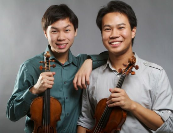 Canadian violinists, brothers Timothy Chooi and Nikki Chooi.