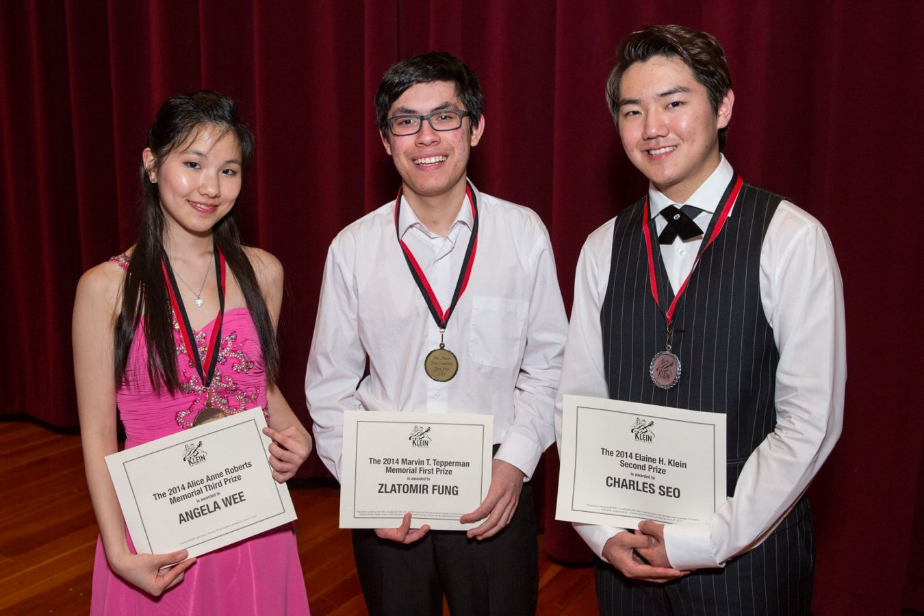Irving M Klein International String Competition Finalists