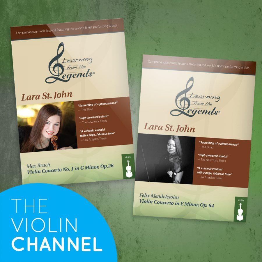Lara St John Learning From the Legends DVD Mendelssohn Bruch Eduard Laurel