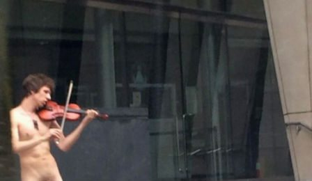 Nude Violinist Portland Oregon Cover