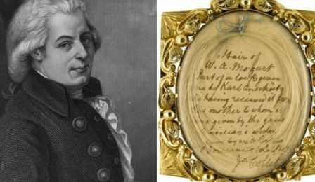 Mozart Hair Locket Sotheby's London Auction Cover