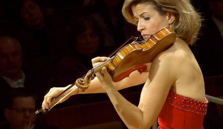 Anne Sophie Mutter Dvorak Concerto Berlin Honeck Cover