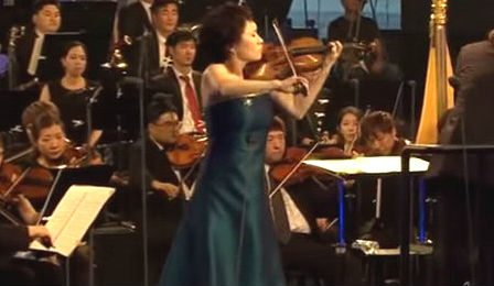 Kyung Wha Chung Korea Peace Bruch Violin Concerto Cover