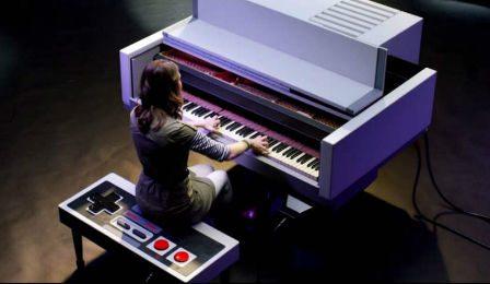 Nintendo Shaped Piano Super Mario Brothers Cover
