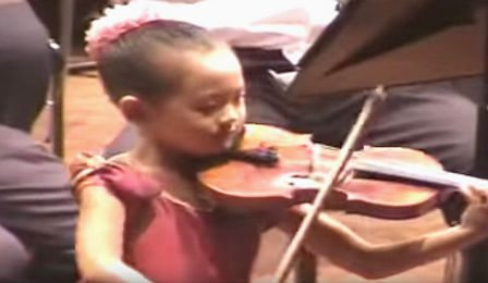 Anna Lee 5 Years Old Paganini Violin Concerto Cover