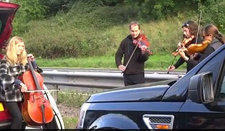 String Quartet England's M5 Traffic Jam Cover
