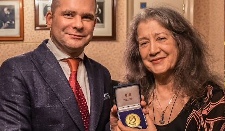 Martha Argerich Royal Philharmonic Society Gold Medal Cover