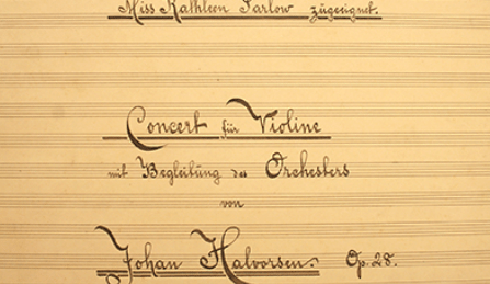 Halvorsen Violin Concerto Toronto Kathleen Parlow Cover