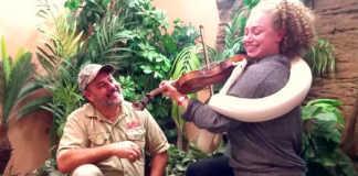 Violinist Tames White Snake
