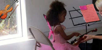North West Kardashian Violin Lesson