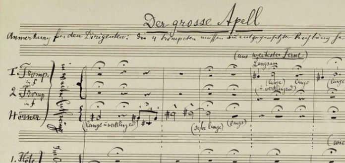 Mahler 2nd Symphony Score Sothebys