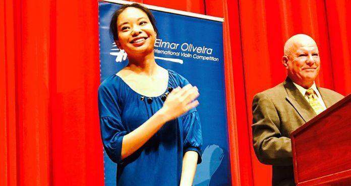 Elmar Oliveira Competition Sirena huang 1st Prize