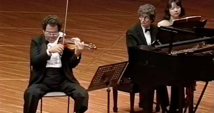 Ithak Perlman Brahms 1989 Cover