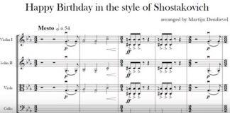 Happy Birthday Shostakovich