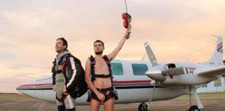 Skydiving Nude Violinist
