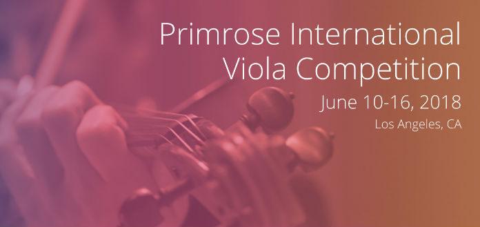 Primrose International Viola Competition Cover
