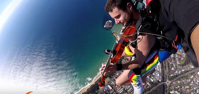 Skydiving Violinist