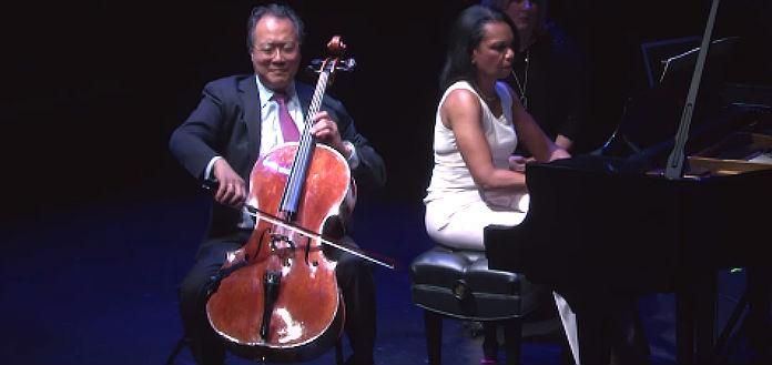 NEW TO YOUTUBE   Yo-Yo Ma &      Condoleezza Rice - Schumann's