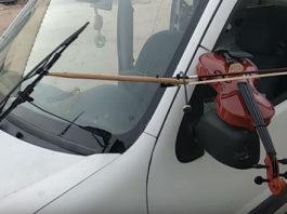 Car Playing Violin