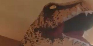 T-Rex Violist Juarassic Park Cover