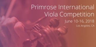 Primrose International Viola Competition Cover