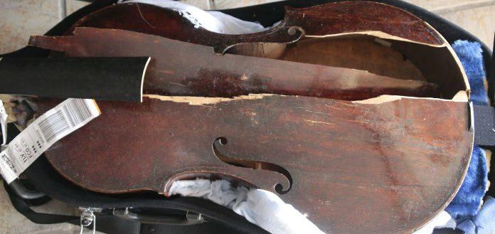 Herzog Destroyed Violin