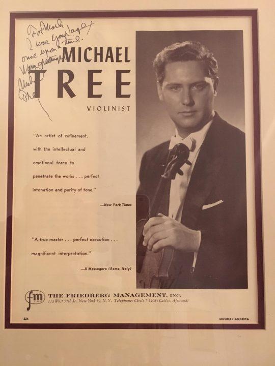 Michael Tree Autograph