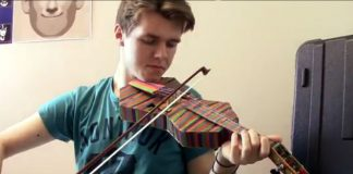 Popsicle Stick Violin