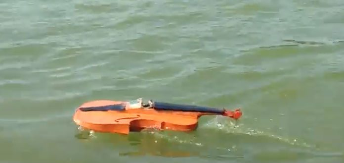 Remote Controlled Water Boat Violin Cover
