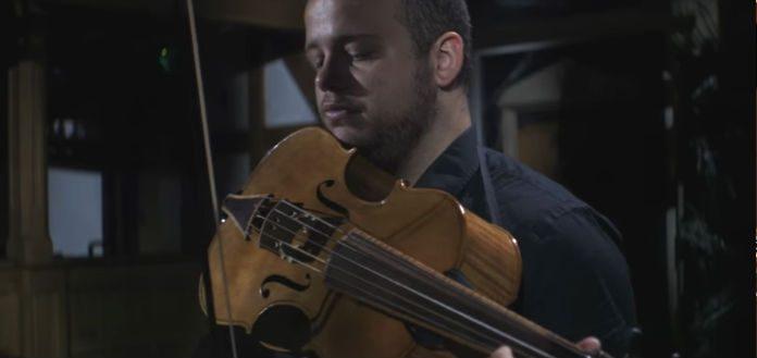 Andrew Gonzalez Bach Cello Suite 6 Violoncello da Spalla Cover