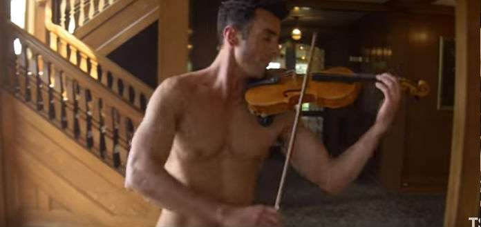 The Shirtless Violinist Mary Poppins Cover