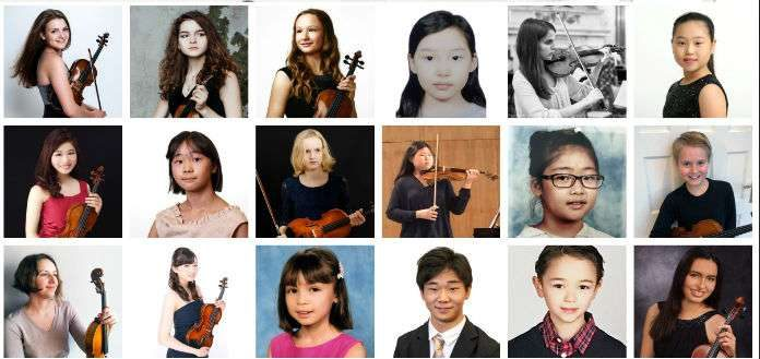 Grumiaux International Violin Competition Candidates 2019 Cover